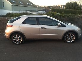 2007 Honda Civic 5 door car in metallic silver is available for sale in the Torquay area.