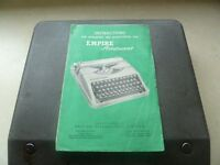 Empire Aristocrat Portable Typewriter - 1956