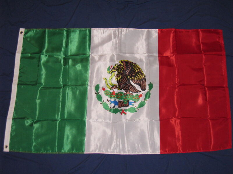 3X5 NYLON MEXICO FLAG MEXICAN NEW BANNER SIGN F732