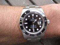 Men's Rolex Submariner Black Swiss ETA 2836