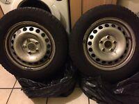 Dunlop Winter tire 4x195/65/15 audi vw