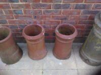 Old clay garden / patio flower pots.