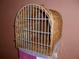 Wicker cat carry basket