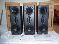 Pair of Kef Reference Series AV3 SP3177 LCR Surround Speakers - THX Certified - Stunning Sound