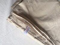 DEBENHAMS Cream cotton rich percale flat sheet (Double King Size)