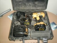 dewalt 14.4 drill with 3 batteries
