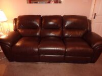 Leather Sofas 2 and 3 Seater Recliners