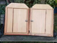 Bedford C.F. rear door cupboards.