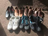 Loads of worn shoes and trainers size 8