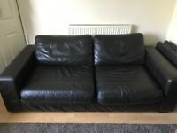 Next brown leather sofa couch Free to collector