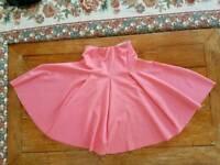 Worn Once Asos Swing scuba neoprene skirt