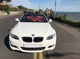 White BMW 320i convertible 2009 (59) (low mileage)