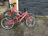 2 Red junior envy bikes