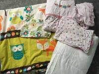 Cot bed duvet and bedding