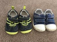 Clarks boys shoes 4.5f