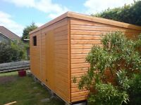 PENT GARDEN SHED/WORKSHOP-10X8 HEAVY DUTY ..WELL MADE..ARNOLD-HUCKNALL-STAPLEFORD-BULLWELL-PINXTON