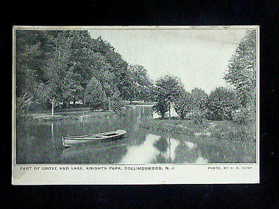 For sale 1910 Grove & Lake Knights Park Collingswood NJ postcard