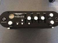 Ashdown MiBass 220 Class D bass amp head in gig bag