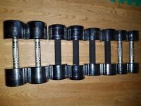58kg chrome dumbbells set
