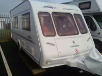 Touring Caravan RALLYE COMPASS 4 berth 2001 **** PRICE REDUCED FOR QUICK SALE ****