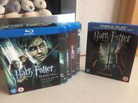 Harry Potter Blu Ray Movie Discs