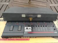 Korg A4 guitar effects processor pedal, power adapter and manual.