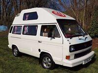 VW T25 Campervan, 1989 Hi top. 1900cc petrol engine.