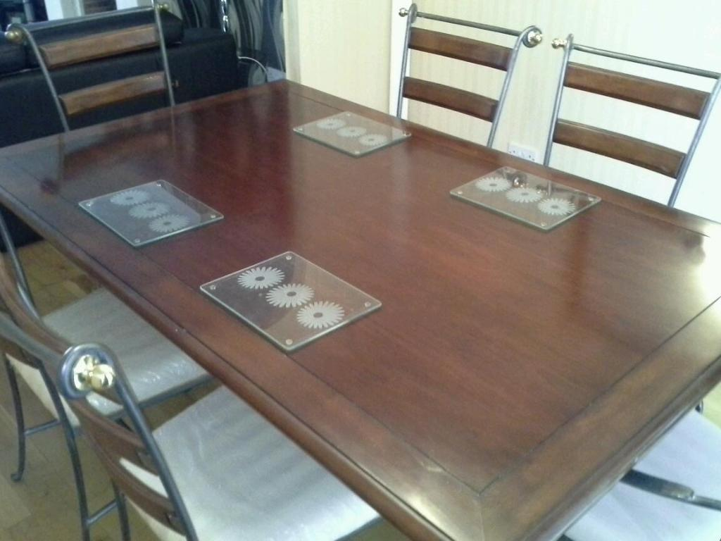 dinning table and 6 chair also includes one wall mirror for sale in
