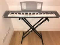 Yamaha Keyboard Portable Grand NP 30 together with stand. Great condition, full working order.