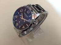 New MONTBLANC flyback Stainless Steel Automatic Watch, See Through Back