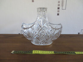 Very large cut glass basket in excellent condition