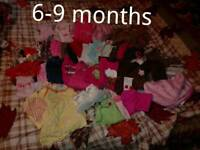 6-9 months baby clothes bundle girl