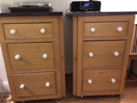 Pine and granite Drawer units x2 £40 each