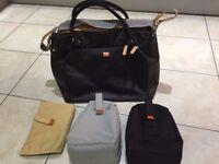 Pacapod Mirano Baby Changing Bag Tote - Black