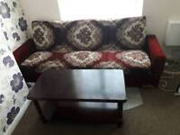 free sofa bed and cofee table
