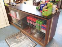 Shop Counter and display/storage glass fronted shelved