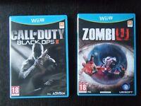 Two NINTENDO Wii U games - 'Call of Duty Black Ops II' and 'Zombi U'