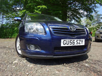 56 TOYOTA AVENSIS T3 X D-4D 2.2 DIESEL,MOTMAY 018,2 OWNERS,2 KEYS,PART HISTORY,STUNING FAMILY CAR