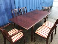 Stag extending dining table and 6 chairs FREE DELIVERY PLYMOUTH AREA