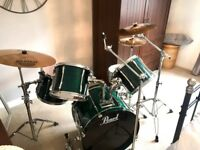 Pearl Export Select drum kit + Sabian pro cymbals