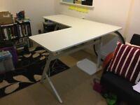 Large White Corner Desk