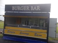1 Burger Van Catering Trailer
