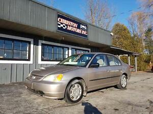 2002 Honda CIVIC CERTIFIED ETESTED ONLY  $1999+taxes