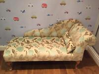 Unique Bespoke Top Quality Floral Chaise Lounge in excellent new condition