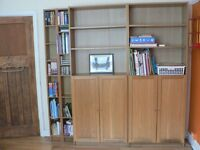 Oak veneer bookshelves (Ikea)