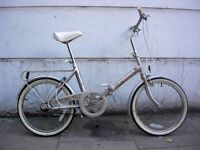 Classic Folding Shopper Bike, Grey, 20 inch Wheels, All Original!!, JUST SERVICED/ CHEAP PRICE!!!!!!