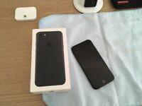 iPhone 7 unlocked matt Black 32gig