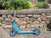 Childs Scooter with pneumatic wheels