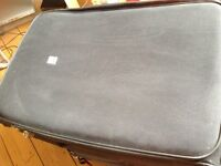 Two old suitcases - fine for storage in loft or shed/cellar or for babyclothes/bedding