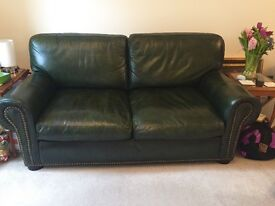 MUST HAVE NOW REDUCED PRICE! Chesterfield leather 2 seater sofa